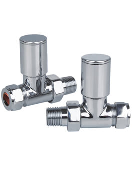 Reina Portland Chrome Straight Radiator Valves