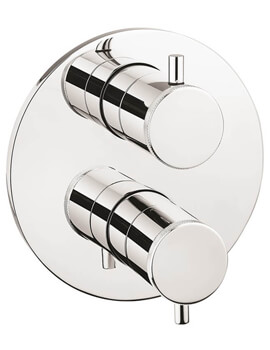 Crosswater MPRO Industrial Crossbox Wall Mounted Thermostatic Shower Valve