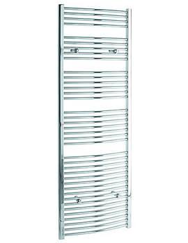 Tivolis Curved Heated Towel Rail 600 x 1800mm - Chrome