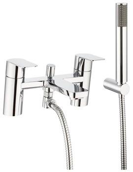 Crosswater Zero 6 Deck Mounted Bath Shower Mixer Tap With Shower Kit