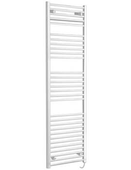 Phoenix Flavia 400 x 800mm Straight Pre Filled Electric White Towel Rail