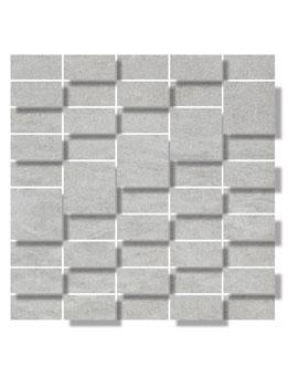 RAK Curton Grey Matt 28.8 x 28.8cm 3D Mosaic Porcelain Tile