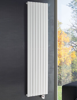 DQ Heating Rosy White Electric Vertical Radiator 560 x 2000mm