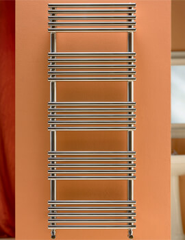 DQ Heating Sandy Polished Stainless Steel 400 x 735mm Heated Towel Rail