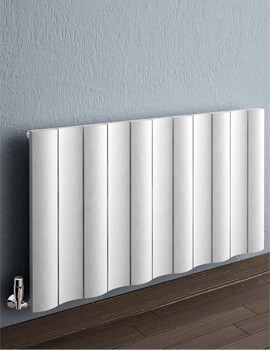 Reina Gio Anthracite Horizontal Double Panel Aluminium Radiator 470 x 600mm