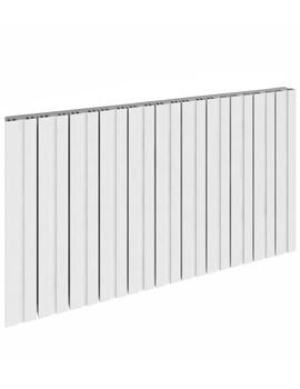Reina Bova Single Horizontal Aluminium Radiator 660 x 600mm White