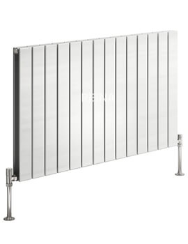 Reina Flat Horizontal Double Panel White Radiator 588 x 600mm