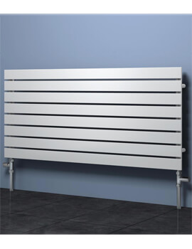 Reina Rione Horizontal Single Designer Radiator 1200 x 550mm White