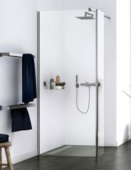 Aqualux Origin 2000mm 8 Walk-In Corner Fit Shower Panel With Splash Panel Kit