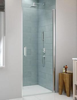 Merlyn 8 Series Frameless Pivot Shower Door - W 760 x H 1950mm