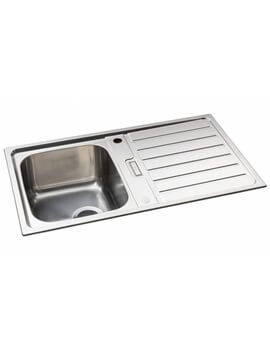 Abode Neron Stainless Steel Compact Sink Reversible Bowl And Drainer
