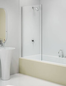 Merlyn MB14 Fixed Square Panel Bath Screen - W 800 x H 1500mm