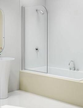 Merlyn MB11 Single Curved Panel Bath Screen - W 800 x H 1500mm