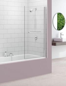 Merlyn MB10 Single Panel Square Pivot Bath Screen - W 800 x H 1500mm