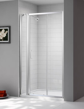 Merlyn Ionic Express Sliding Shower Door And Inline Panel - W 1080-1140 x H 1900mm