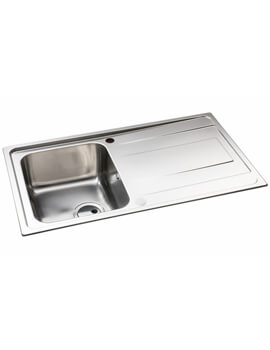 Abode Ixis Stainless Steel 1.0 Reversible Compact Sink Bowl And Drainer