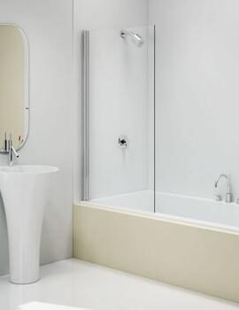 Merlyn MB12 Fixed Square Pivot Bath Screen - W 800 x H 1400mm