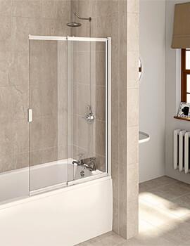 Aqualux Aqua 820 x 1275mm 4 2 Panel Slider Bath Screen 820mm