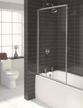 Aqualux Aqua 750 x 1375mm 3 Fully Framed Bath Screen