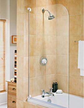 Aqualux Aqua 750 x 1375mm 3 Half Framed Radius Bath Screen