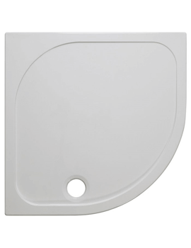 Crosswater Quadrant 45mm Stone Resin Shower Tray With High Flow Waste