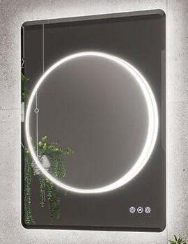 HIB Frontier 60 LED Illuminated Bathroom Mirror - W 600 x H 800mm