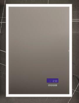 HIB Globe Plus 60 LED Illuminated Bluetooth Mirror - W 600 x H 800mm
