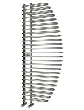 Reina Nola Chrome Steel Designer Radiator 600 x 1400mm