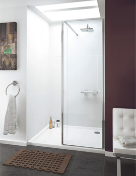 Lakes Coastline Levanzo 2000m Height Walk-In Shower Screen With Bypass Panel