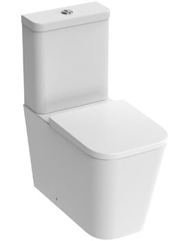 Saneux Matteo Close Coupled WC Pan With Cistern And Toilet Seat