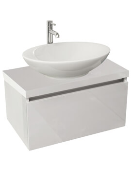 IMEX Echo 600mm Wall Mounted Single Drawer Unit And Worktop