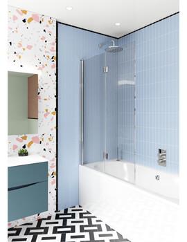 Crosswater Design Plus Double Bath Screen 1060mm x 1500mm