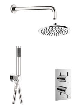 Crosswater MPRO 2 Outlet Thermostatic Shower Valve With Set