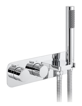 Vado Altitude Chrome Two Outlet Thermostatic Shower Valve With Kit