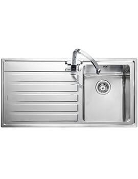 Rangemaster Rockford 1 Bowl Inset Stainless Steel Kitchen Sink -  985 x 508mm