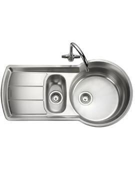 Rangemaster Keyhole 1000 x 520mm Stainless Steel 1.5 Bowl Kitchen Sink