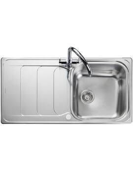 Rangemaster Houston Stainless Steel 1.0B Inset Kitchen Sink 985 x 508mm