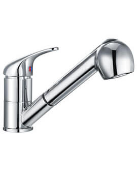 Nuie Eon Mono Sink Mixer Tap With Pull Out Rinser