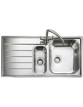 Rangemaster Oakland 1.5 Bowl Stainless Steel Kitchen Sink Drainer