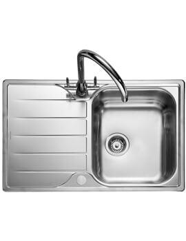 Rangemaster Michigan Compact Stainless Steel 1.0B Inset Sink 508mm