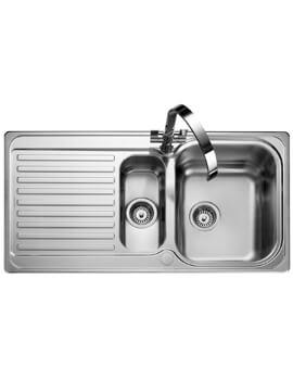 Rangemaster Sedona 985 x 508mm Stainless Steel 1.5B Inset Kitchen Sink