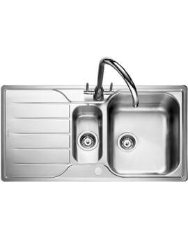 Rangemaster Michigan Stainless Steel 1.5B Inset Kitchen Sink 950 x 508mm