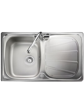 Rangemaster Baltimore Compact Kitchen Single Bowl Stainless Steel Sink