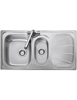 Rangemaster Baltimore 1.5 Kitchen Bowl Stainless Steel Sink Reversible
