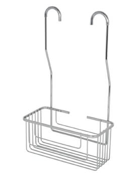 Croydex Chrome Hook Over Shower Mixer Caddy