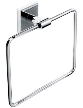 Roper Rhodes Pace Wall Mounted Towel Ring Chrome