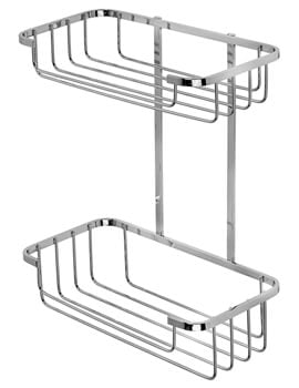 Croydex Wire Stainless Steel Two Tier Cosmetic Basket