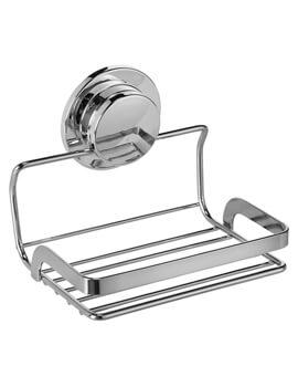 Croydex Stick N Lock 131mm Soap Basket