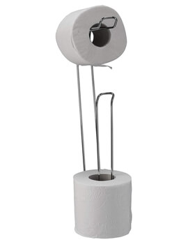 Croydex Wall Mounted Chrome Toilet Roll Holder