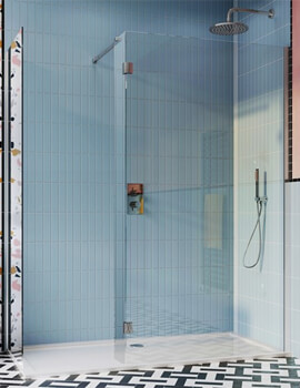 Crosswater Design Plus 1400 x 900mm Double Sided Walk In Enclosure